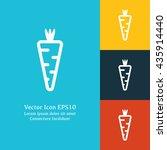 vector illustration of carrot... | Shutterstock .eps vector #435914440