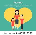 mother with children banner...   Shutterstock .eps vector #435917950