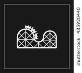 roller coaster icon. roller... | Shutterstock .eps vector #435920440