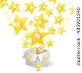 golden stars with depth of... | Shutterstock .eps vector #435921340