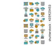 cloud storage vector icons set | Shutterstock .eps vector #435925453
