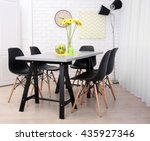 dining table in home interior | Shutterstock . vector #435927346