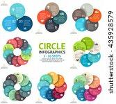 vector circle arrows... | Shutterstock .eps vector #435928579