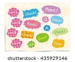 navigation pins set vector  | Shutterstock .eps vector #435929146