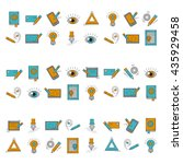 vector icons set creative...