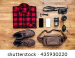 travel concept boots  shirt ... | Shutterstock . vector #435930220