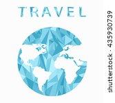 vector globe sphere  map design.... | Shutterstock .eps vector #435930739