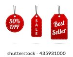 sale tags in set. modern design ... | Shutterstock .eps vector #435931000
