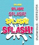 splash    comic speech bubble ... | Shutterstock .eps vector #435931954