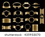 set of frames and elements... | Shutterstock .eps vector #435933070