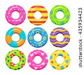 Colorful Swim Rings Icon Set ...