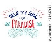 vector hand lettered... | Shutterstock .eps vector #435937654