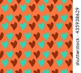 heart pattern background vector | Shutterstock .eps vector #435938629