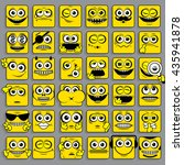square emoticons collection.... | Shutterstock .eps vector #435941878