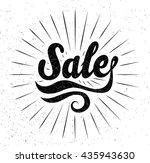 vector design. lettering... | Shutterstock .eps vector #435943630