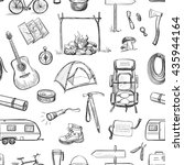 vector set of sketches on the... | Shutterstock .eps vector #435944164