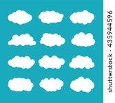 vector cumulus clouds set in... | Shutterstock .eps vector #435944596