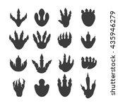 vector reptile footprints.... | Shutterstock .eps vector #435946279