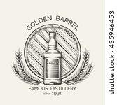 whisky distillery emblem.... | Shutterstock .eps vector #435946453