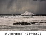 stormy late afternoon with rain ... | Shutterstock . vector #435946678
