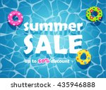 summer sale design template.... | Shutterstock .eps vector #435946888