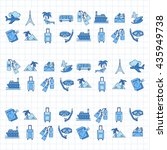 vector set of travel icons... | Shutterstock .eps vector #435949738