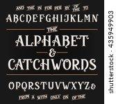 vintage alphabet vector font....   Shutterstock .eps vector #435949903