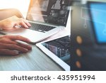 website designer working with... | Shutterstock . vector #435951994