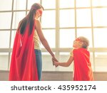 back view of mother and her... | Shutterstock . vector #435952174