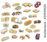bakery color waterpaint | Shutterstock . vector #435959020