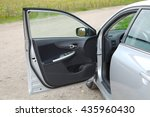 Stock photo car stopped with open door 435960430