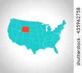 map of wyoming   Shutterstock .eps vector #435962758