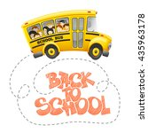 back to school inscription by... | Shutterstock .eps vector #435963178