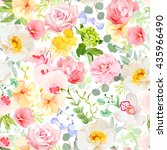 multicolor floral seamless... | Shutterstock .eps vector #435966490