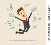 happy manager or business man... | Shutterstock .eps vector #435972244