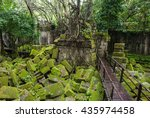 ta prohm khmer ancient... | Shutterstock . vector #435974458
