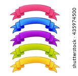 set of colorful ribbons for...