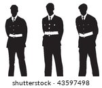 vector silhouettes of three... | Shutterstock .eps vector #43597498