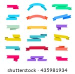 vector set of retro ribbons... | Shutterstock .eps vector #435981934
