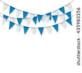 party flags on white background.... | Shutterstock .eps vector #435983356