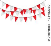 party flags on white background.... | Shutterstock .eps vector #435983380