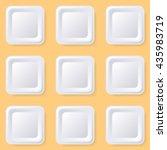 retro vector blank white square ...