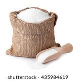 sugar in burlap sack with... | Shutterstock . vector #435984619