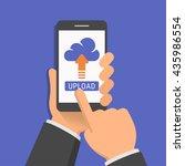 uploading to cloud network... | Shutterstock .eps vector #435986554