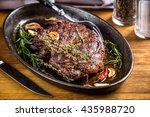 healthy lean grilled medium... | Shutterstock . vector #435988720
