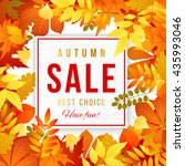 sale banner with bright autumn... | Shutterstock .eps vector #435993046