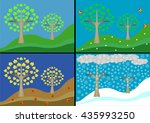 times of the year  an autumn a... | Shutterstock .eps vector #435993250