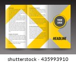 trifold brochure template... | Shutterstock .eps vector #435993910