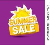 vector summer sale sticker or... | Shutterstock .eps vector #435997474