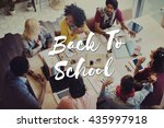 back to school education... | Shutterstock . vector #435997918